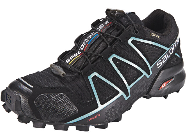 4b76be71 Salomon Speedcross 4 GTX Buty do biegania Kobiety, black/black/metallic  bubble blue